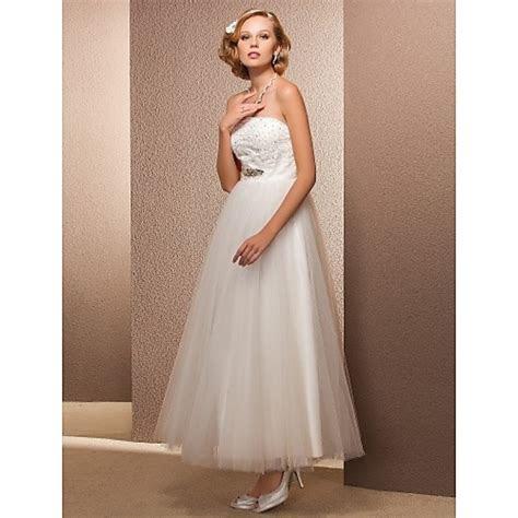 A line/Princess Plus Sizes Wedding Dress   Ivory Ankle