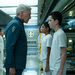 Harrison Ford, center, confronting Asa Butterfield in