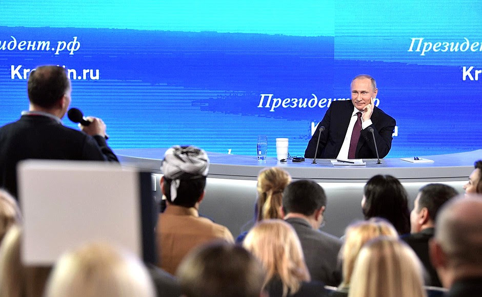 La maggior parte della conferenza stampa di Vladimir Putin.
