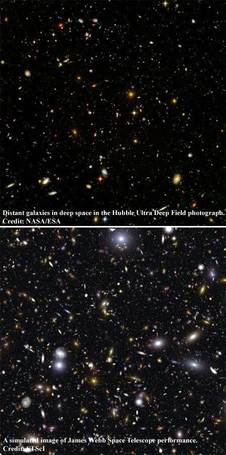 Hubble vs. JWST