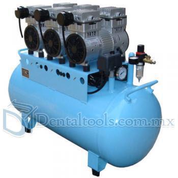90L Compresor Dental sin Aceite Silencioso  450L / min 1-Conducir-6 Estable BD-203