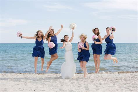 pink  blue beach theme wedding belle  magazine