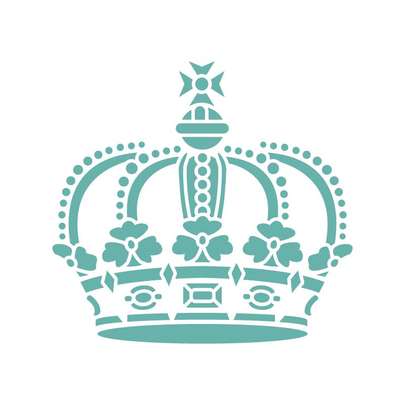 Corona Reina Manualidades Stencil Plantilla Decorativa Sd