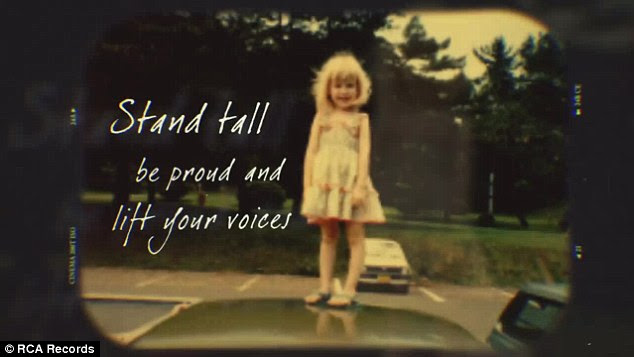 Child at heart: The lyric video captured moments from Aguilera's childhood