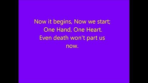 One Hand One Heart Lyrics Glee