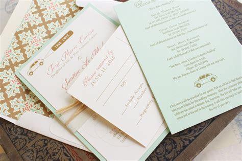 Modern Travel Wedding Invitation (Italy)