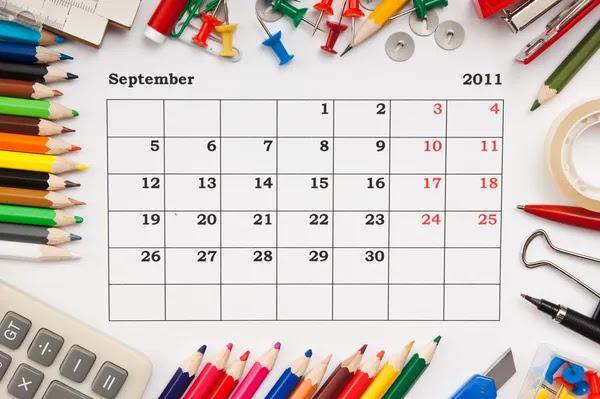 calendar september 2011. Calendar for September 2011
