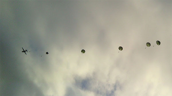 Primer salto realizado por los alumnos