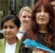Shami Chakrabarti director of Liberty with Janis Sharp