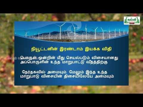 10th Science இயக்க விதிகள் Kalvi TV