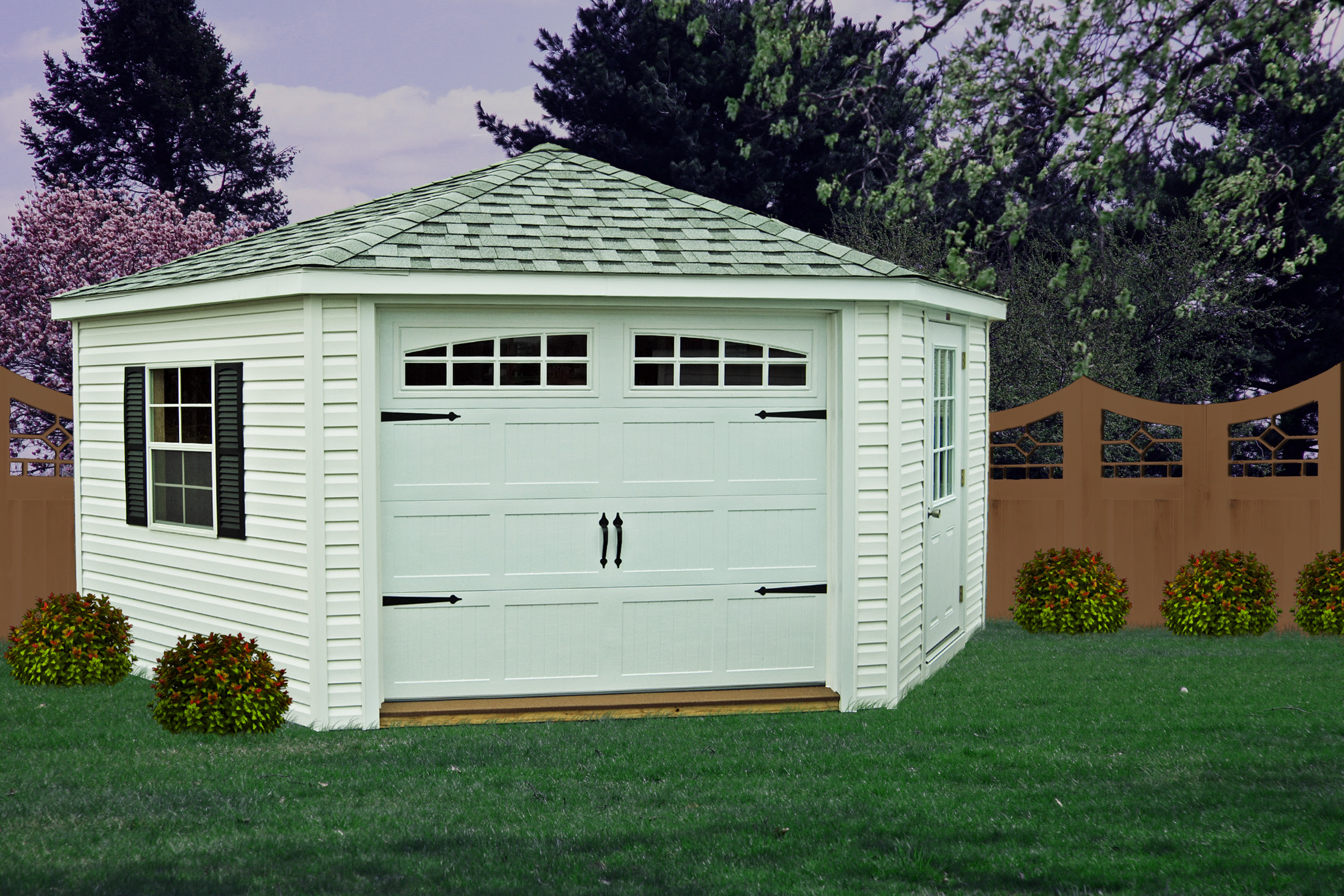 Next Five sided garden shed plans