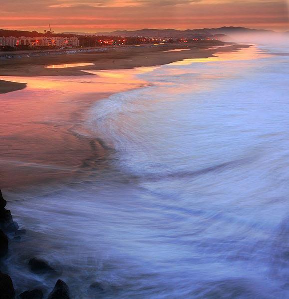 File:Ocean Beach in San Francisco at sunrise edit1.jpg