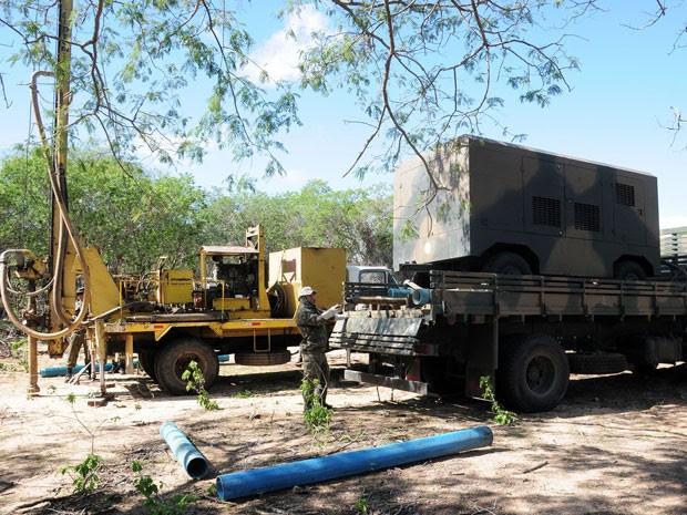 Meta do Exércio é perfurar 200 poços no Nordeste (Foto: Exército Brasileiro)