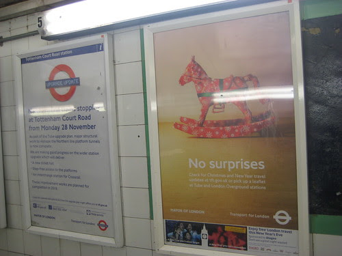 No Surprises - Xmas & New Year Tube Times Poster