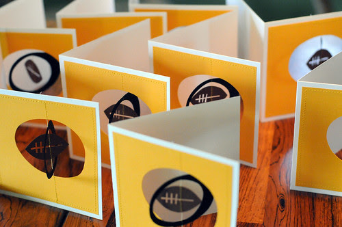 Pittsburgh Steelers 3D Football Handmade Cards