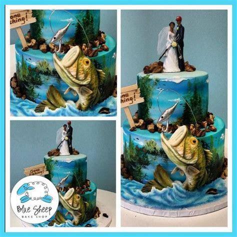 tiered bass fish wedding cake   cakes   Fishing wedding
