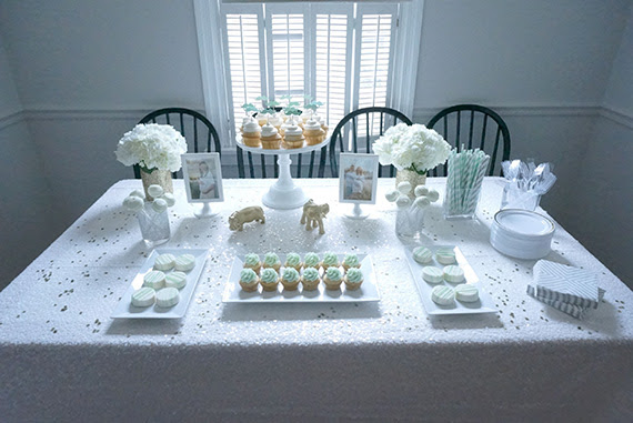 Mint And White Boys Baby Shower Baby Showers 100 Layer Cakelet