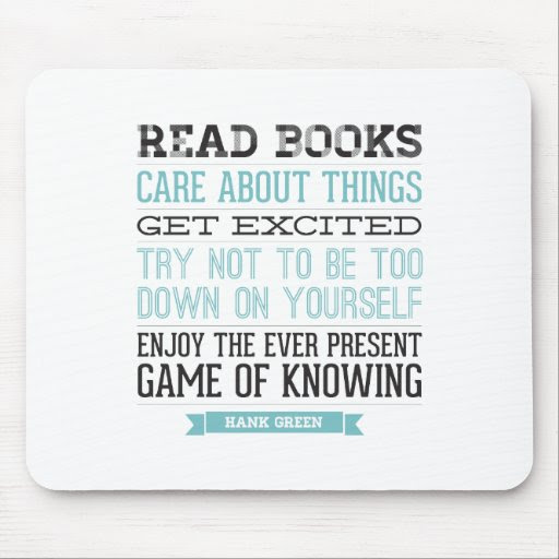 Hank Green Quote Mouse Pad  Zazzle