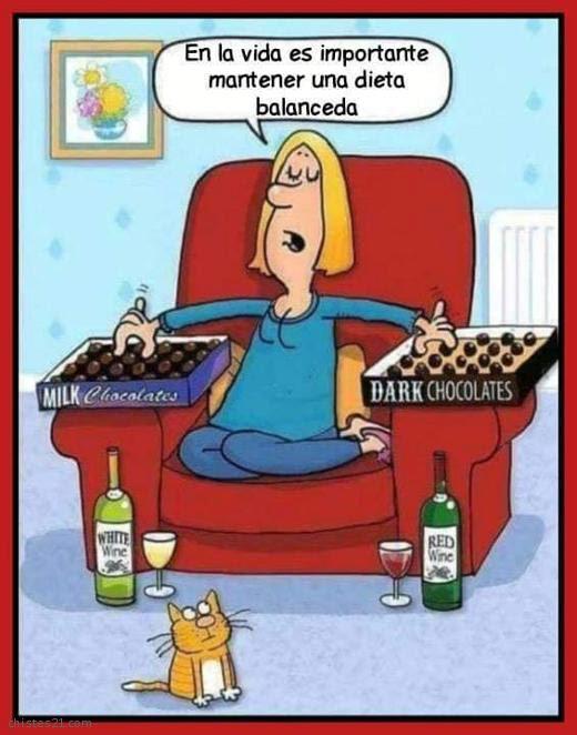 Resultado de imagen para chistes sobre alimentacion saludable