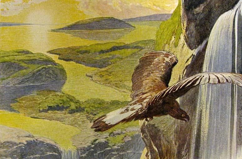 El nuevo mundo que renace tras el Ragnarök, según aparece descrito en el Völuspá (ilustración de Emil Doepler).
