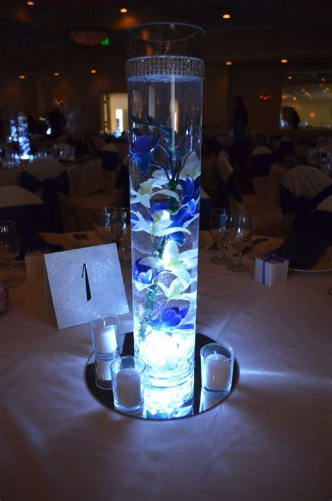 Centerpiece decoration, submersible LED tea light   votive