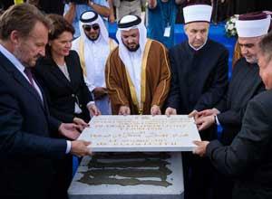 peletakan batu pertama masjid slovenia