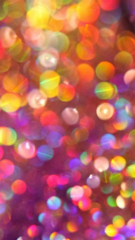 Colorful Glitter Bokeh iPhone 6 / 6 Plus and iPhone 5/4 Wallpapers
