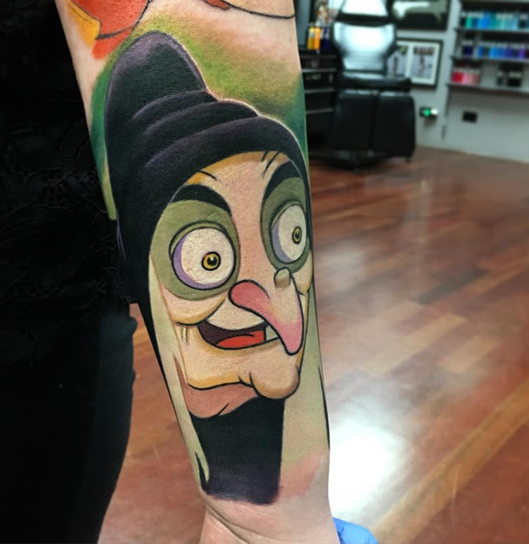 Evil Witch From Snow White Best Tattoo Design Ideas
