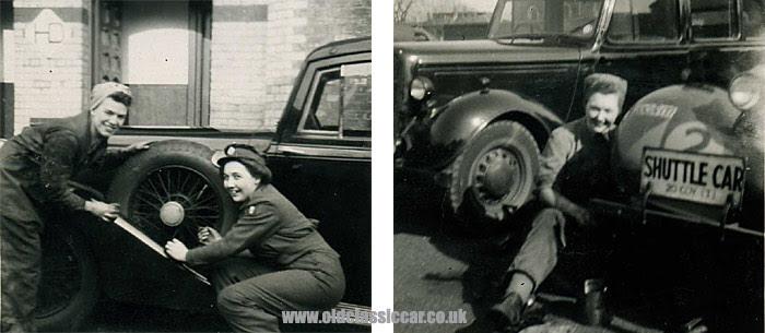 WW2 Humber staff car and ATS mechanics