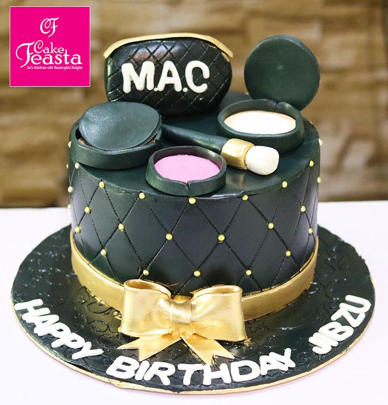 Brilliant Makeup Birthday Cake Saubhaya Makeup Personalised Birthday Cards Sponlily Jamesorg