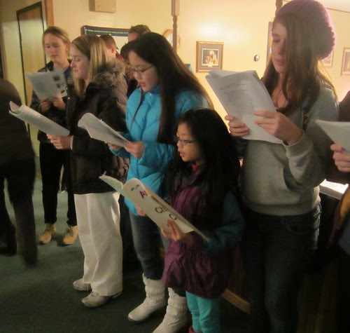 Singing at Linnea House