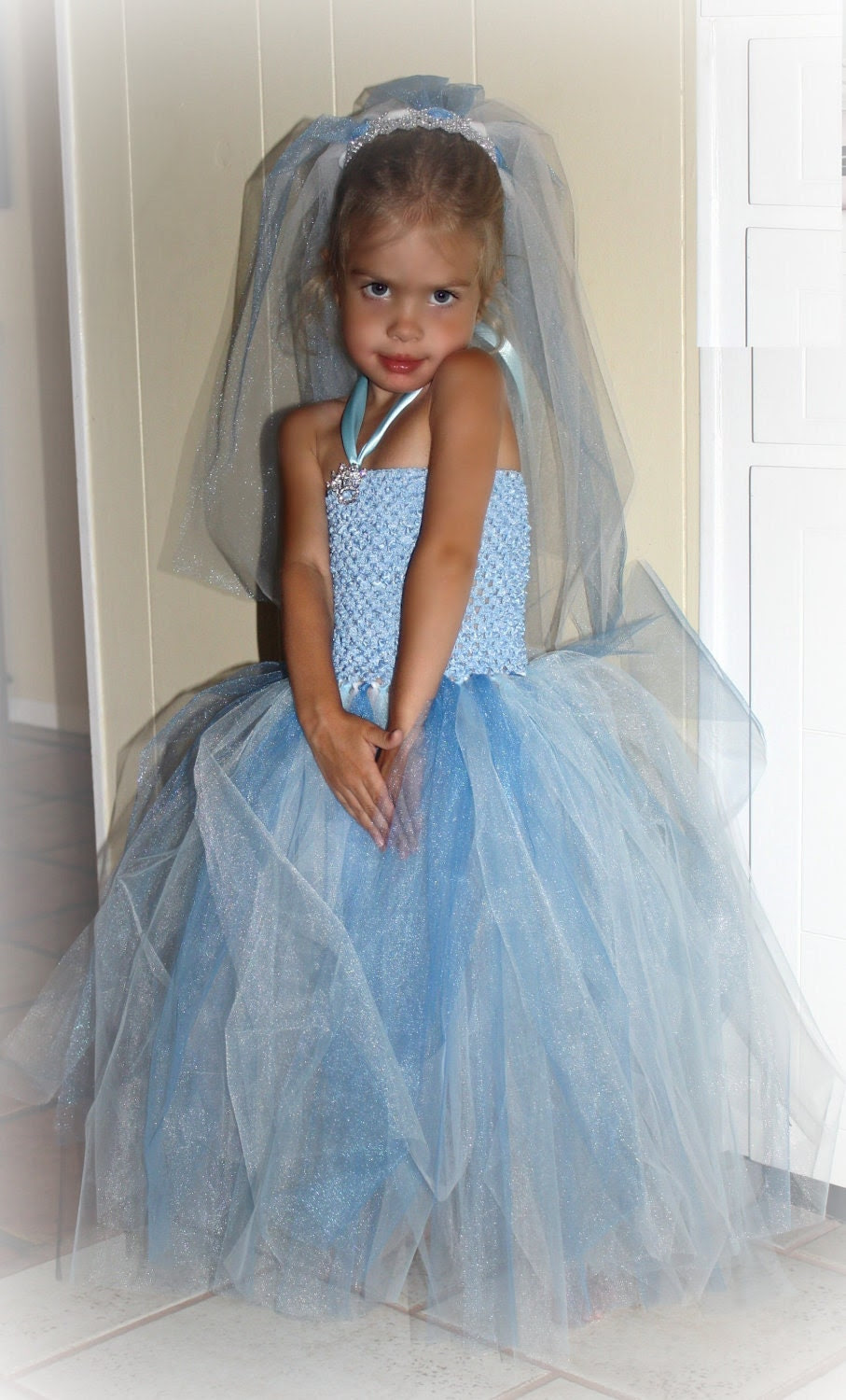 Epilepsy Awareness Blue Cinderella Wedding Tutu Dress w/ Options