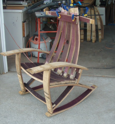 Wine Barrel Stave Adirondack Chair Plans Woodworking Very Easy