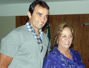 Franco e a governadora Rosalba Ciarlini participaram do lançamento da etapa Natal do Circuito de Vôlei de Praia (Foto: Klênyo Galvão)