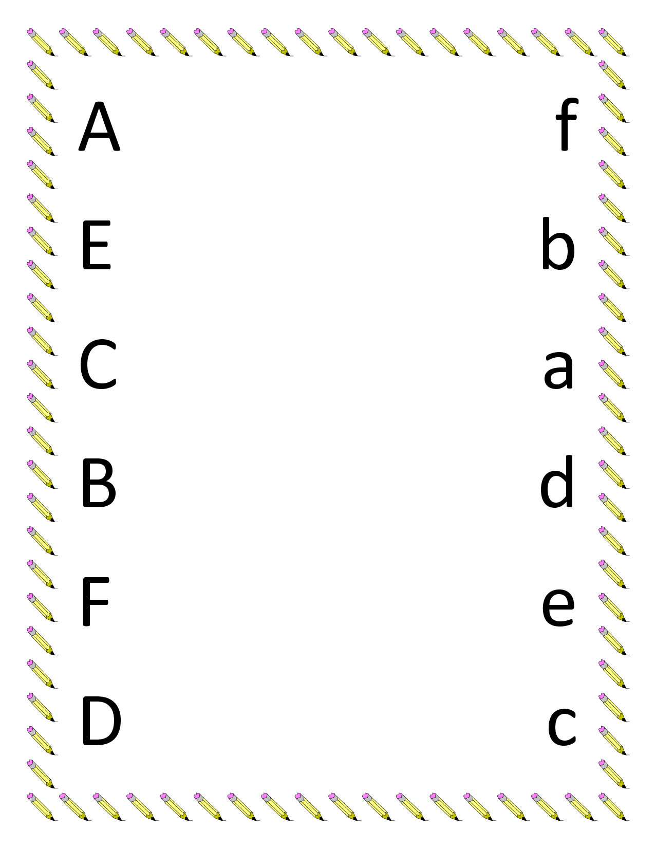 Alphabet Worksheets for Preschoolers | ABCs - Letter matching a-g ...