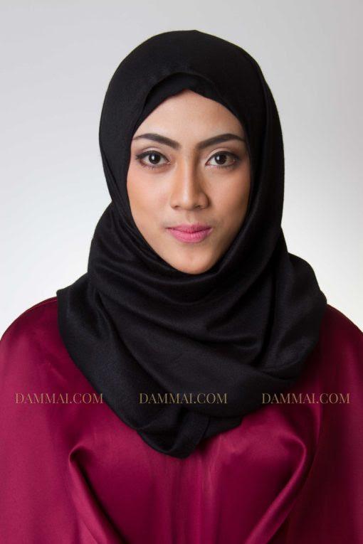 Black Hijab Pashmina DAMMAI