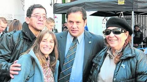 Diana Pinasco, de Vatayón Militante y Víctor Hortel, del SPF.