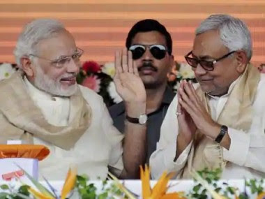 File image of Prime Minister Narendra Modi and Bihar chief minister and JD(U) chief Nitish Kumar. PTI