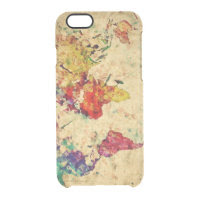 Vintage world map  deflector iPhone 6 case