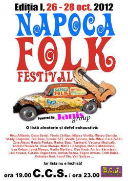 Napoca Folk Festival la Casa de Cultura a Studentilor Cluj