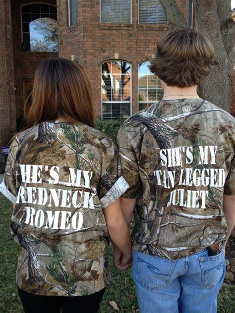 couples camo redneck romeo juliet  polkadotpeeps  etsy