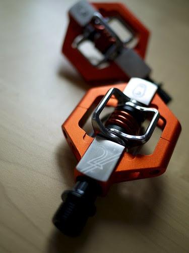 orange bike pedals