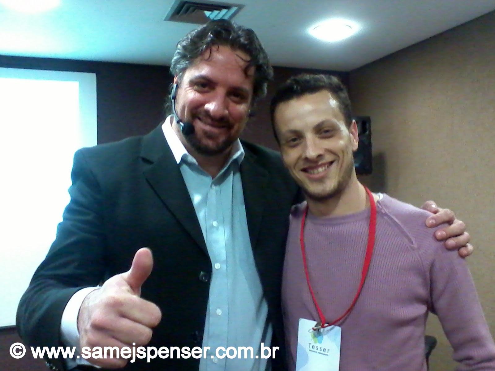 FOTO: Olimar Tesser e Samej Spenser | Arquivo pessoal de Samej Spenser