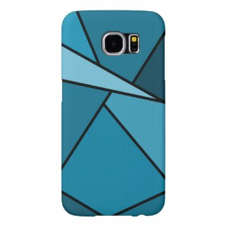 Abstract Teal Polygons Samsung Galaxy S6 Cases