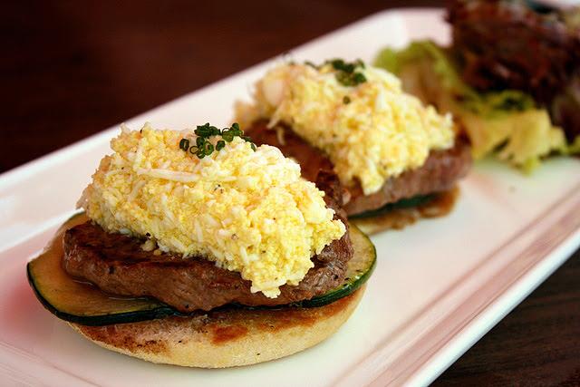 Beef Steak Open Sandwich