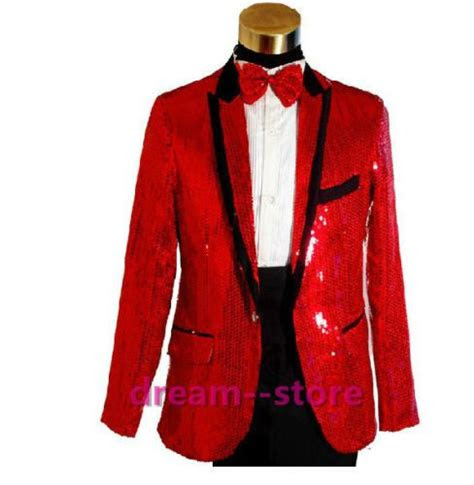 details  original mens bling sequins tuxedo suit