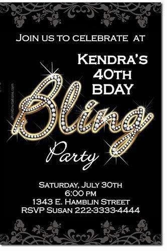 Bling Birthday Party Invitations