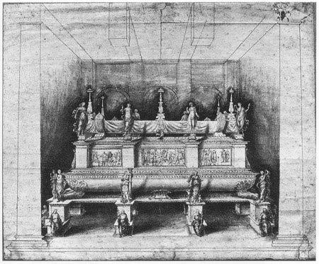 Progetto di monumento funebre un tempo collegato alla tomba di Gaston de Foix (Victoria and Albert Museum)