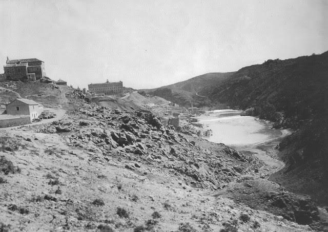 Ermita de la Cabeza  y río Tajo hacia 1880. Foto Casiano Alguacil