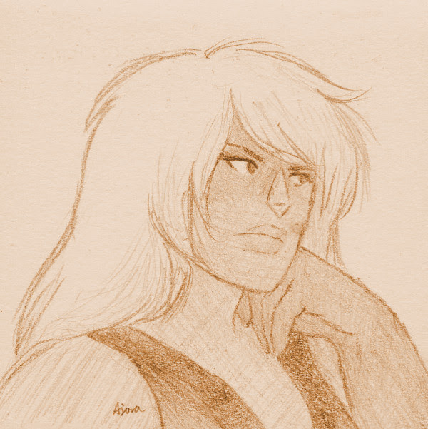 Jasper watching the discourse, 3x3″ post-it note doodle. I haven't drawn her in a while, which is a crime.